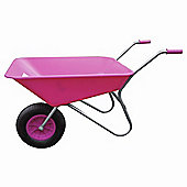 Threeway Bull Barrow Picador Plastic Wheelbarrow - Pink