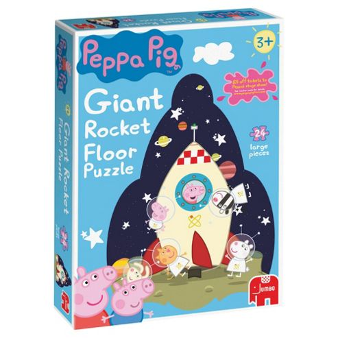 Peppa 24 Piece Giant Rocket Puzzle