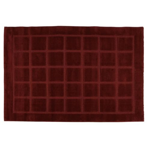 Tesco Rugs Squares Rug 160X230Cm Red