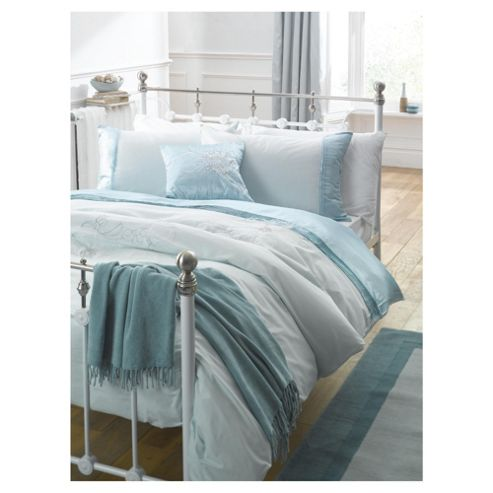 Tesco Kimmy Embroidered King Size Duvet Set, Aqua
