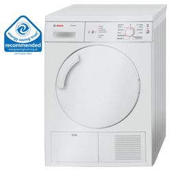 Bosch WTV74105GB Vented Tumble Dryer, 7 kg Load, C Energy Rating. White