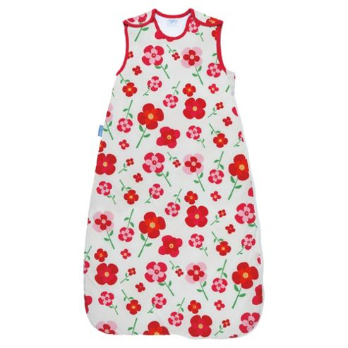 Grobag Baby Sleeping Bag Pretty Petals 1.0 Tog, 6-18 Months