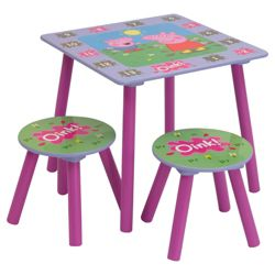 Peppa Pig Table & 2 Stools