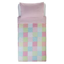 Tesco Kids Gingham Patchwork Duvet Set