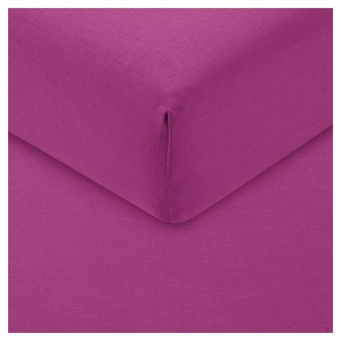 Tesco Single Fitted Sheet, Magenta