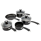 Prestige 5 piece Non-Stick Saucepan Set, Black