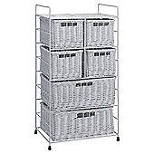 Tesco Wicker 6-Drawer Tower