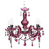 Tesco Lighting Marie Therese Chandelier Plum