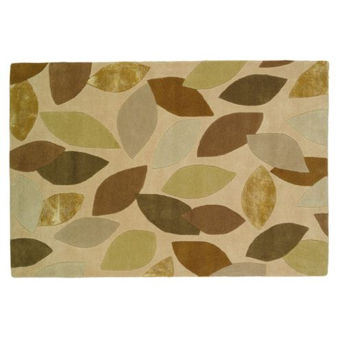 Tesco Rugs Leaves Rug 150x240cm Green