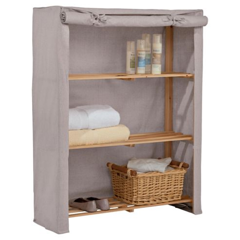 Tesco 3 shelf unit, Cream