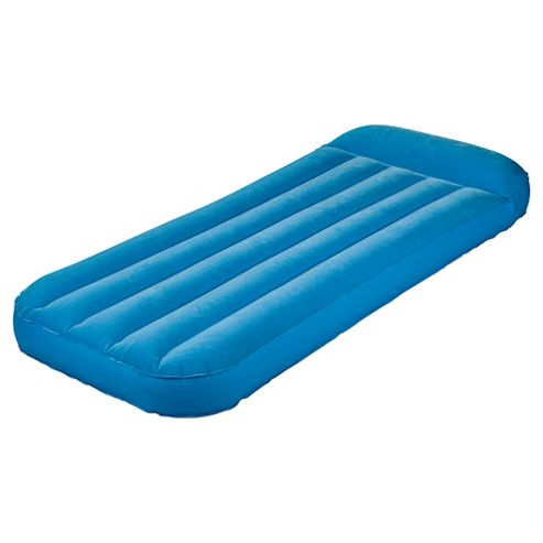 Tesco Flocked Kids' Air Bed, Blue