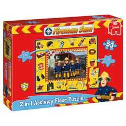 Jumbo Games Fireman Sam 53 Piece Giant Activity Jigsaw Puzzle