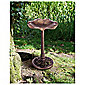 Copper lily leaf bird bath