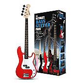 Rockburn Ultimate Electric Bass Guitar Pack - Red