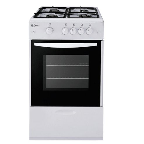 Flavel FSG51NP White Single FSD Gas Cooker