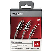 2.1m Jack to Phono (3.5mm to RCA) Audio Cable - Belkin