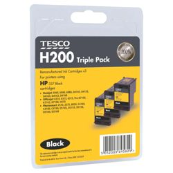 Tesco H200 Triple Printer Ink Cartridge (Compatible with printers using HP 337 Black Cartridge)