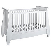 Tutti Bambini Lucas Dropside Sleigh Cot Bed, White
