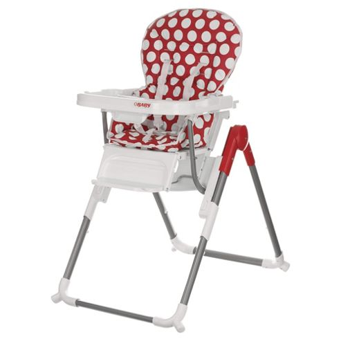 Obaby Nanofold Highchair, Dotty Red