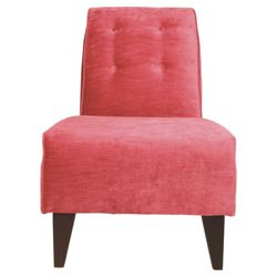 Rosa Accent Chair, Velvet Pink