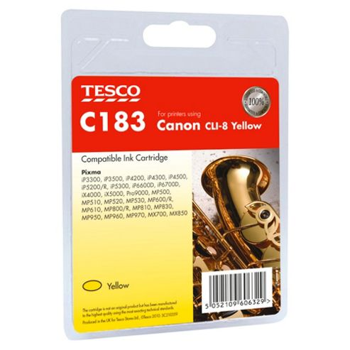 Tesco C183 Printer Ink Cartridge - Yellow