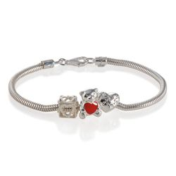 Truth Sterling Silver Starter Bracelet with 3 Charms