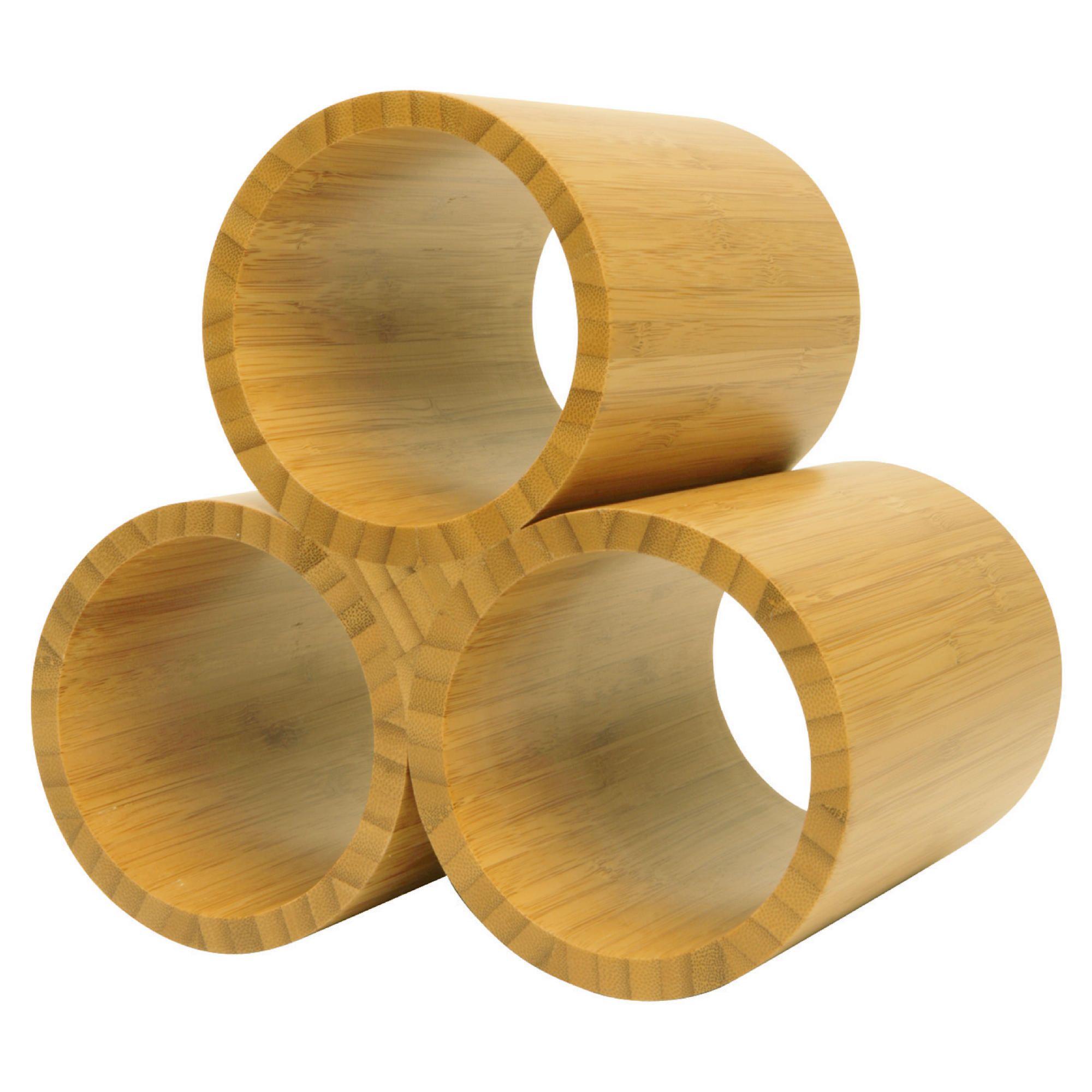 Tesco Bamboo 3 Bottle Wine rack