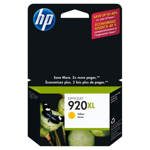 HP 920XL Printer Ink Cartridge - Yellow (CD974AE)