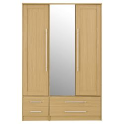 Kendal Triple Wardrobe, Oak-Effect