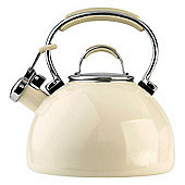 Meyer Prestige Whistling Hob Kettle Enamel, Almond