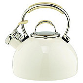 Prestige Stove Top Whistling Kettle - Cream