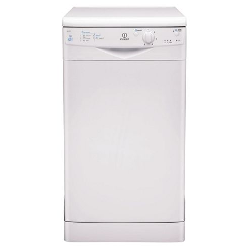 Indesit IDS105 Slimline Dishwasher, A Energy Rating. White