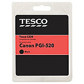 Tesco C133 Black Printer Ink Cartridge (Compatible with printers using Canon PGI-520BK Cartridge)