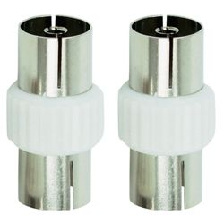 Tesco Aerial Cable Couplers Pack of 2