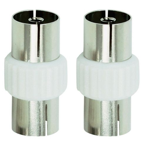 Tesco Aerial Coaxial Cable Couplers Pack of 2