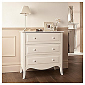 Lille 3 Drawer Chest, Ivory