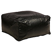 Faux Leather Bean Slab, Black