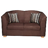Stonebridge Small Fabric Sofa, Chocolate