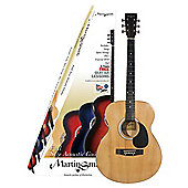 Martin Smith Acoustic Guitar W100 Natural with Stand