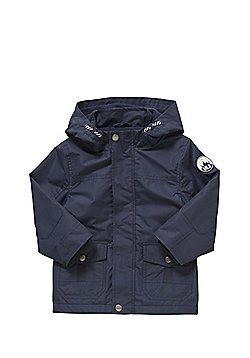 F&F Out In the Wild Badge Hooded Mac - Navy