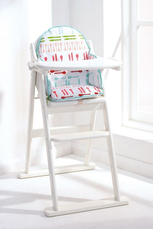East Coast Folding Highchair, White