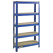 Clarke CSR5150BP boltless shelving unit 150Kg, blue