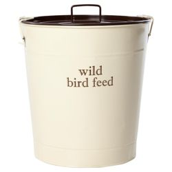 Wild bird feed storage bin