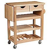 T&G Woodware Ltd Viva Trolley in Natural Hevea
