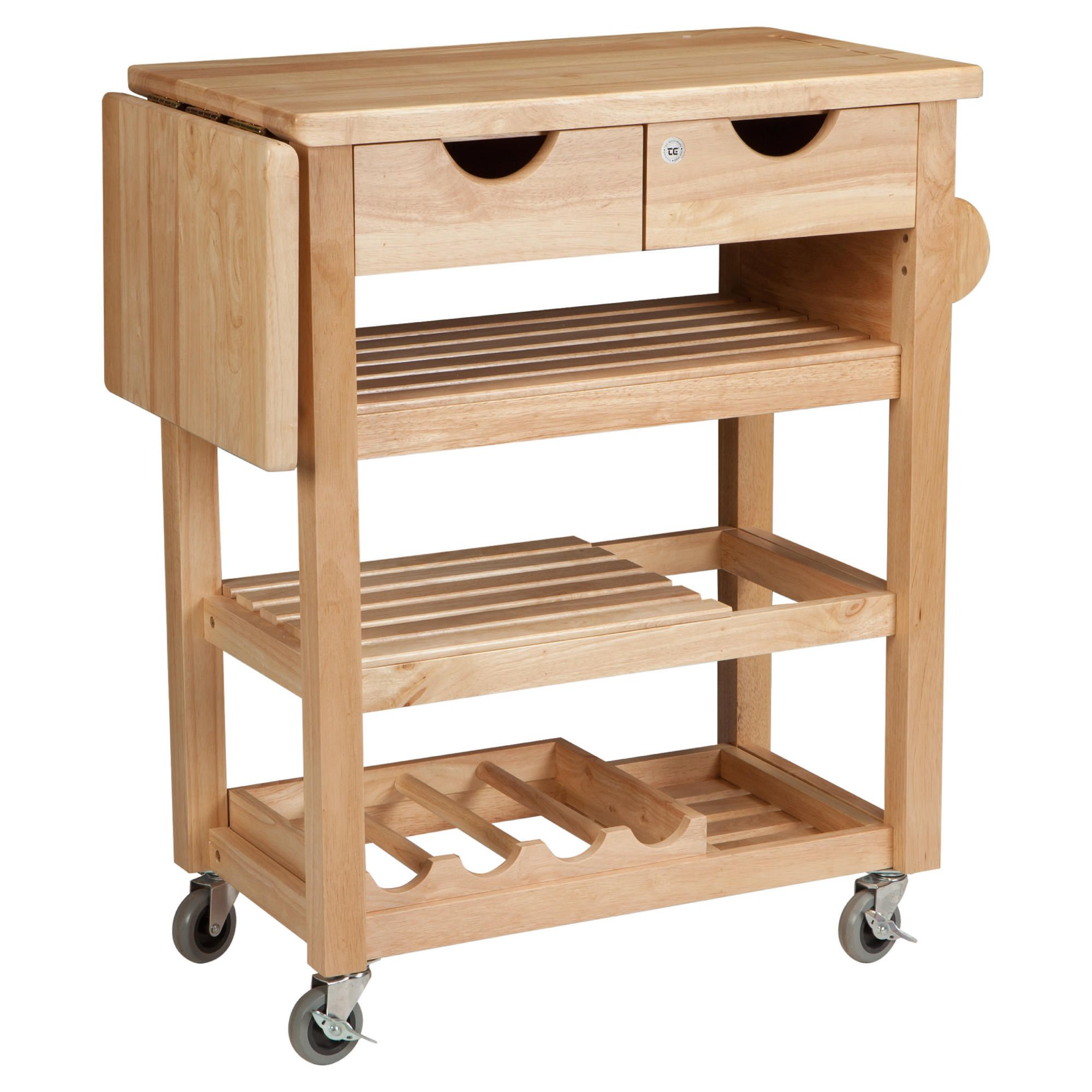 T&G Woodware Ltd Viva Trolley in Natural Hevea at Tesco Direct