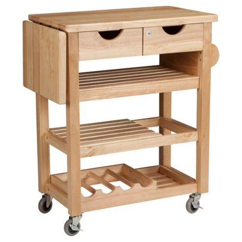 T&G Woodware Ltd Viva Trolley in Natural Hevea