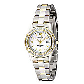 Accurist Ladies Swarovski Crystal Two Tone Watch - LB1541P