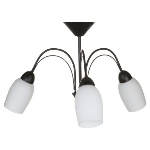 Tesco Lighting Tulip Ceiling Fitting, Black