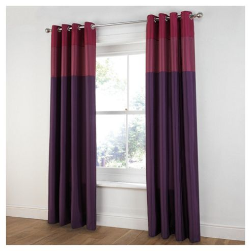Tesco Treble Taffetta Lined Eyelet Curtains W163xL229cm (64x90