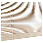 Wood Venetian Blind 105Cm 25Mm Slats 210Cm Drop, Chalk
